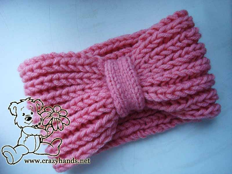 Mock Fishermans Rib Headband