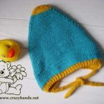 Reversible Double Knit Pixie Baby Hat