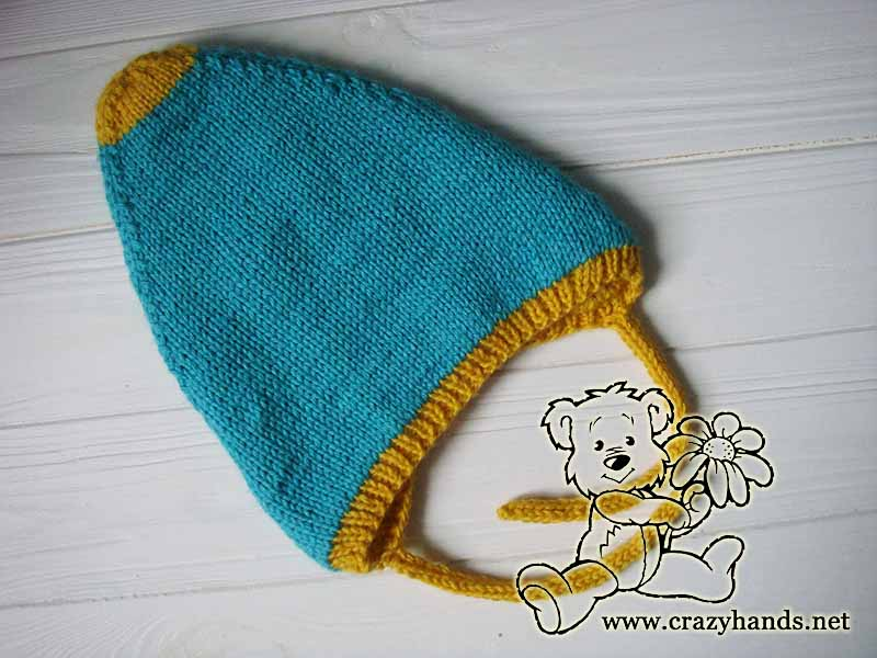 Reversible Knit Pixie Baby Hat