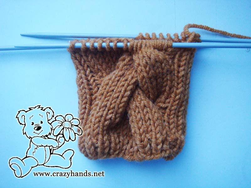 Ribbing part of the cable gloves