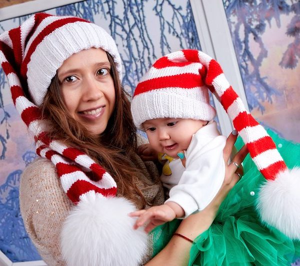 Baby Santa Claus Knit Hat Pattern