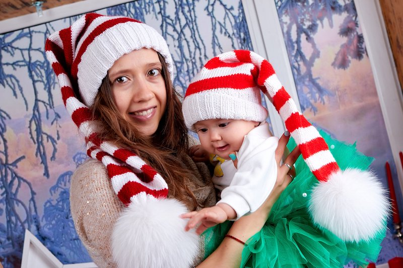 Baby Santa Claus Knit Hat Pattern