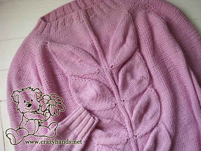 Finished knit blooming leaf buds sweater picture 2