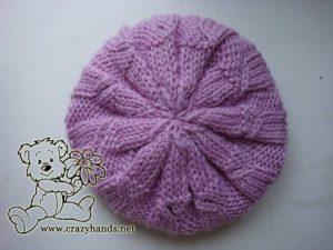 beautiful knit hats crown