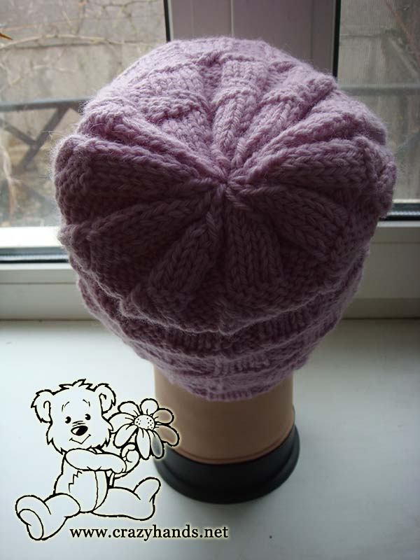 knit crown of the magnolia pink hat