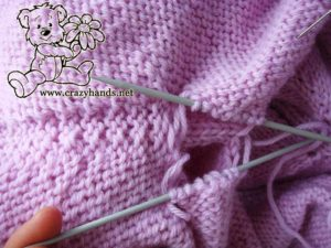 sewing underarms holes of knit leaf sweater
