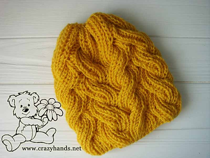 d2427d26b Sunnyside Cable Knit Hat Pattern (Fisherman's Rib) · Crazy Hands ...