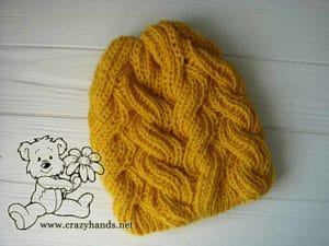 Sunnyside Cable Knit Hat Pattern (Fisherman's Rib)