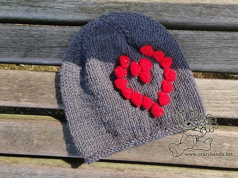 Baby Red Heart Beanie Pattern
