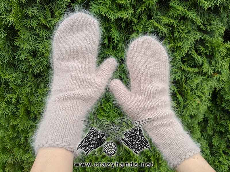 Stylish Diana Knit Mittens Pattern