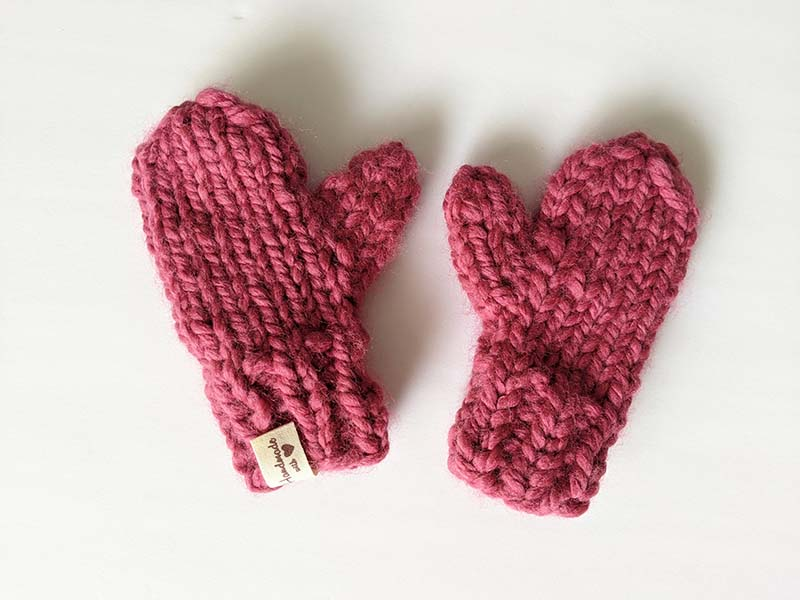 Super Bulky Toddler Knit Mittens Pattern · Crazy Hands ...