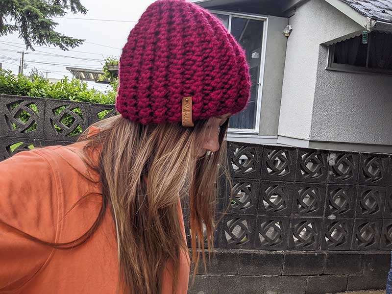 Ribbed Bubble Knit Hat Pattern · Crazy Hands Knitting