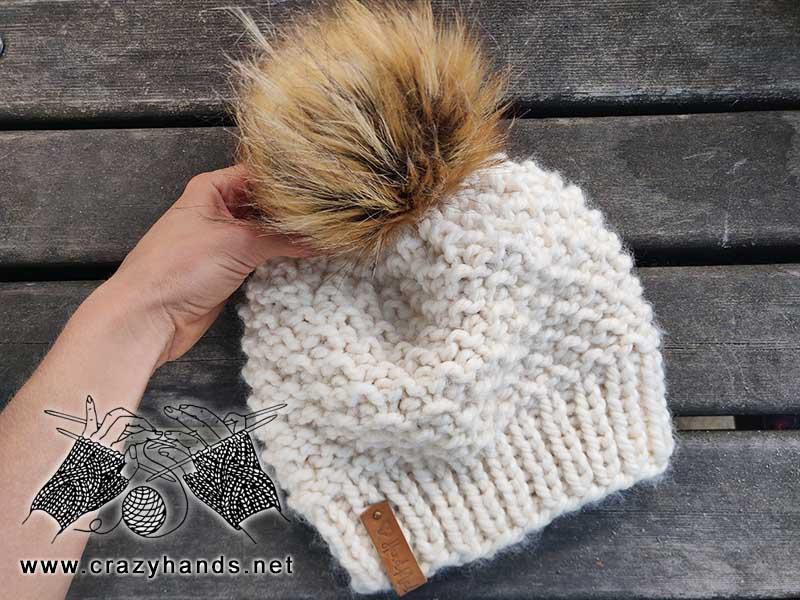 Bulky Knit Beanie Hat