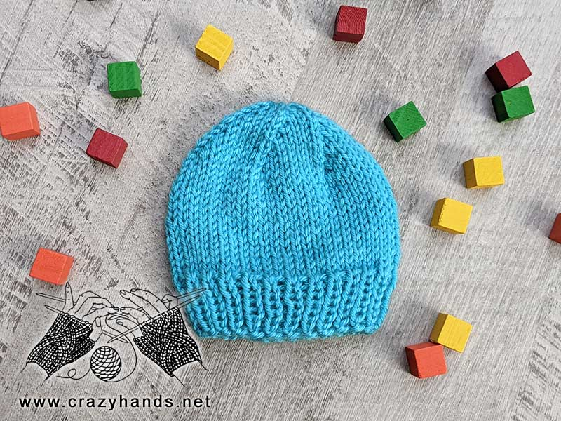 Preemie hat for beginner-level knitters